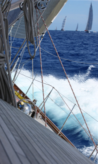 Sailing Yacht Saluting Cannon